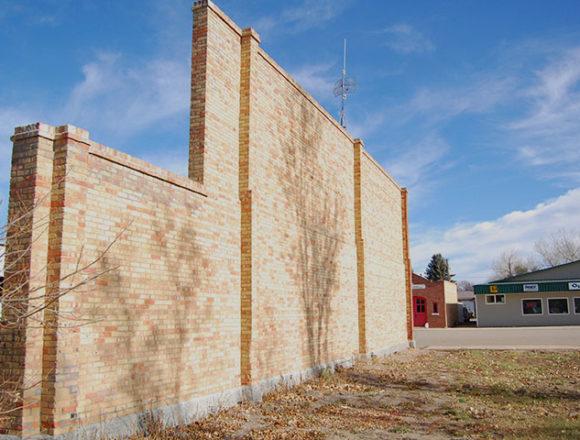 Ogema's historic firewall still stands