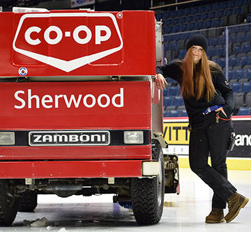 Zamboni zen: Regina woman embraces work in male-dominated field