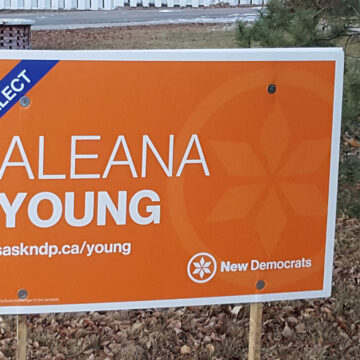 Pregnant NDP Candidate Young challenged incumbent in close race