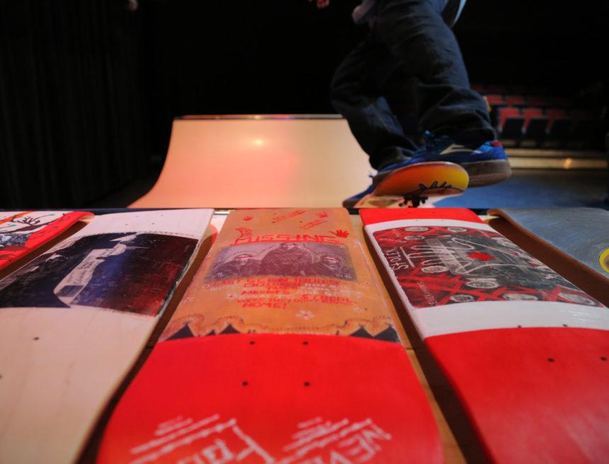 Michael Langan skateboarding